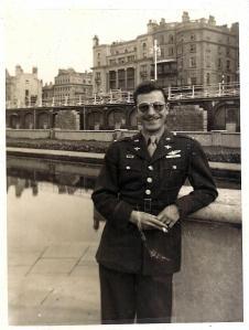 A veteran, passing on Veteran's Day
