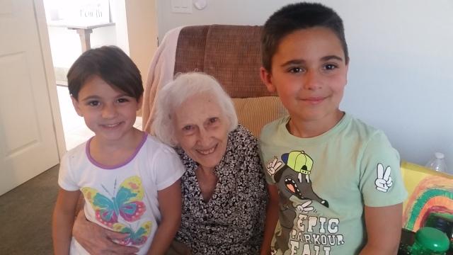 grandma & kids